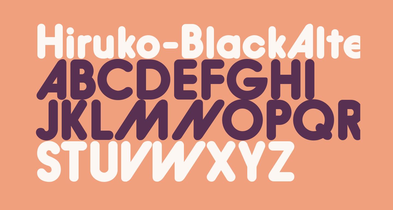 Hiruko-BlackAlternate