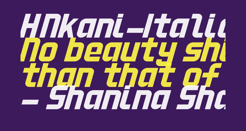 HNkani-Italic
