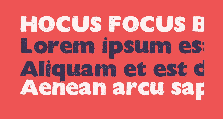 HOCUS FOCUS Bold