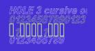 HOLE 3 cursive outline