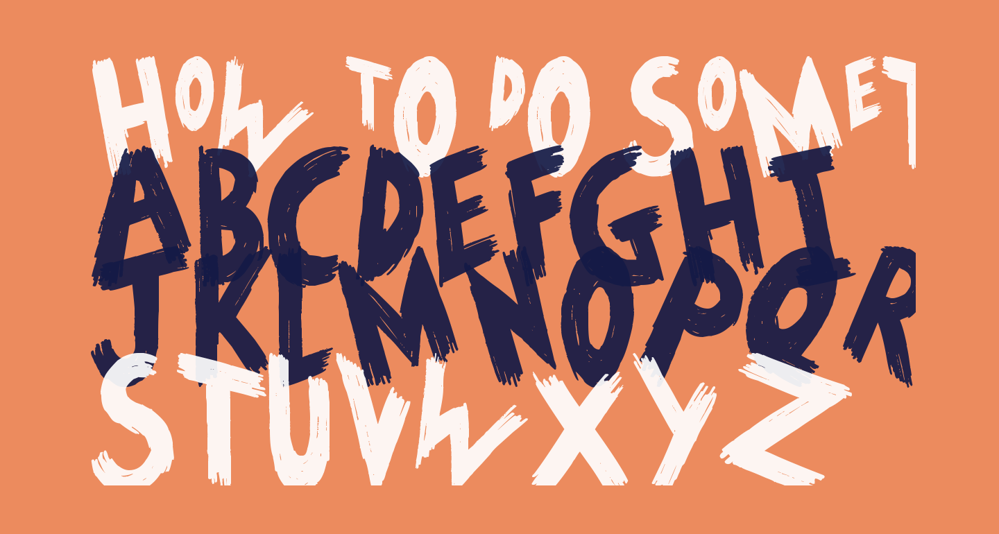 HoW tO dO SoMeThInG
