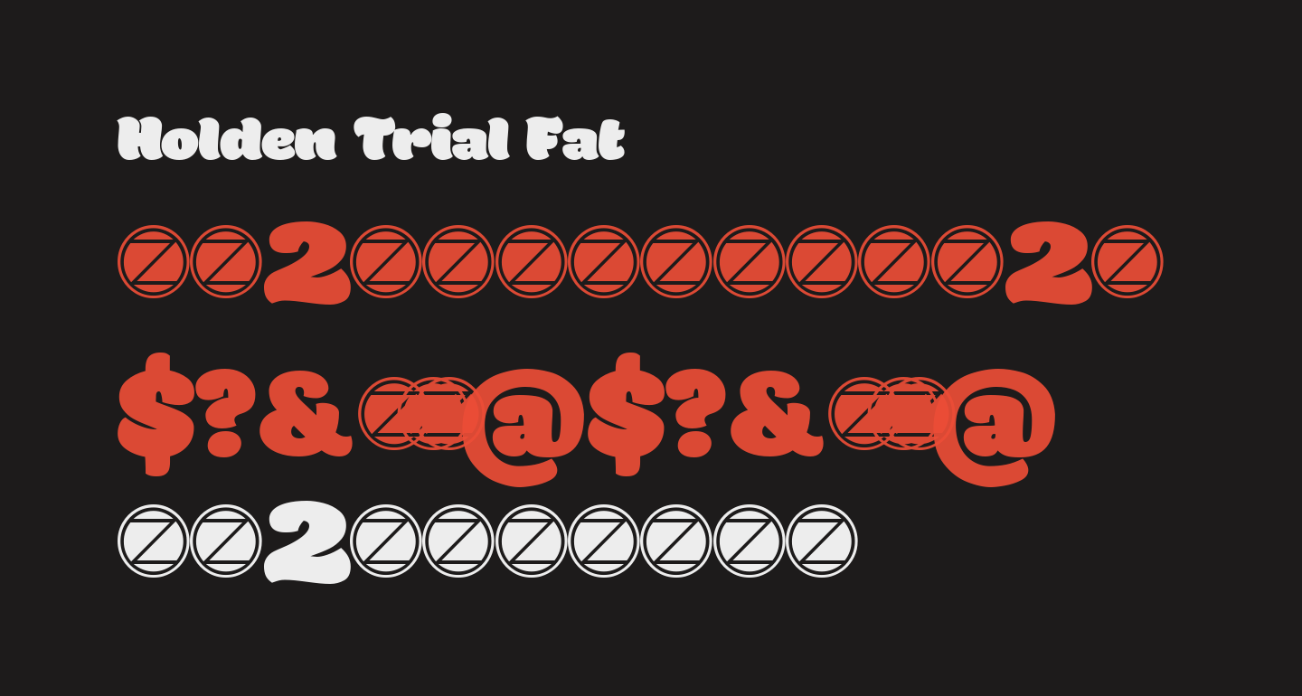 Holden Trial Fat