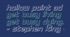 Hollow Point 3D Italic