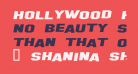 Hollywood Hills Expanded Italic