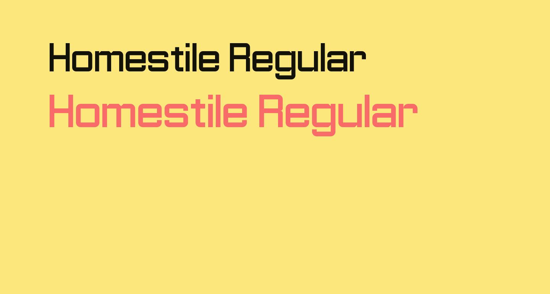 Homestile Regular