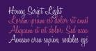 Honey Script Light