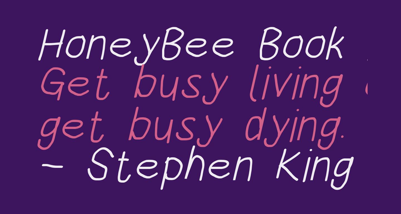 HoneyBee Book Italic