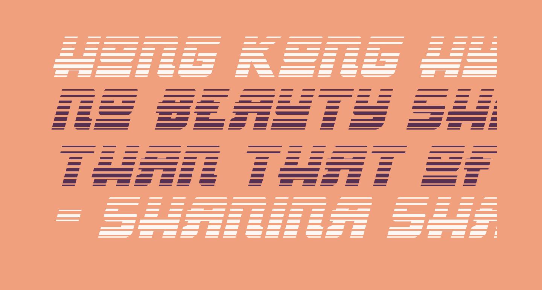 Hong Kong Hustle Gradient Italic