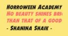 Horroween Academy Italic