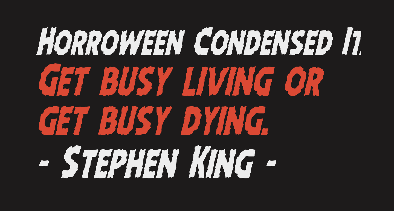 Horroween Condensed Italic