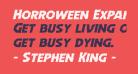 Horroween Expanded Italic