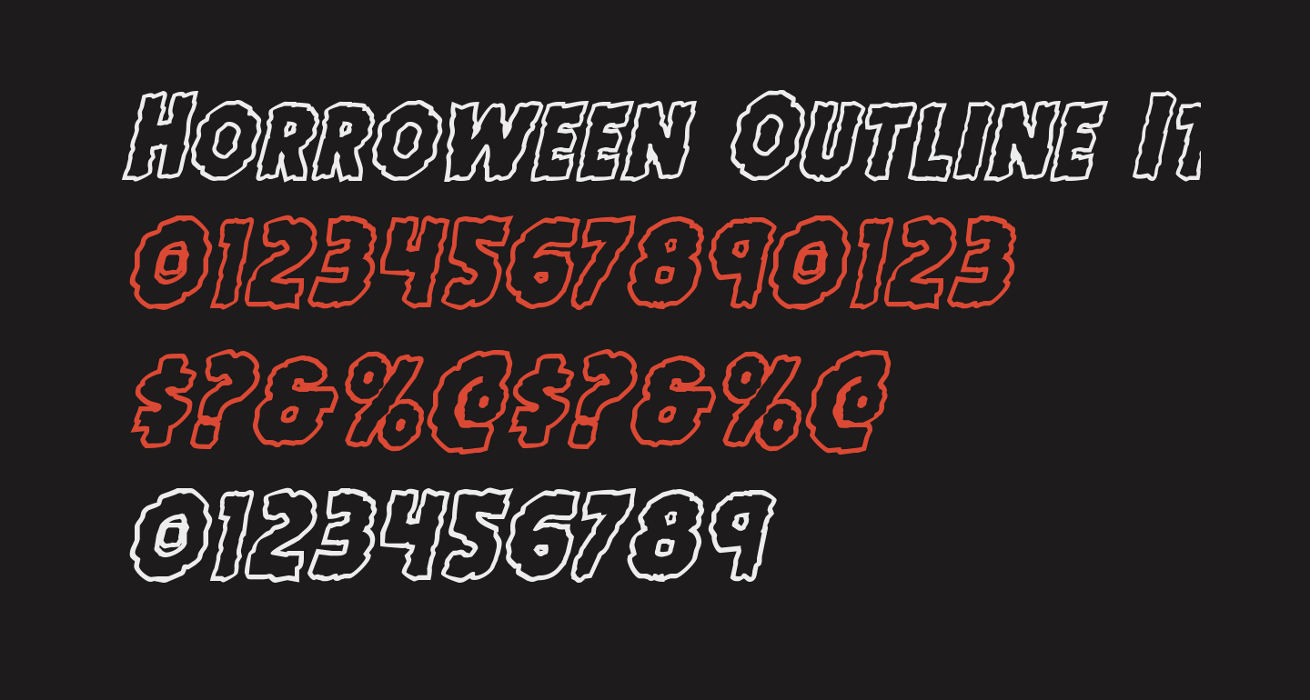 Horroween Outline Italic