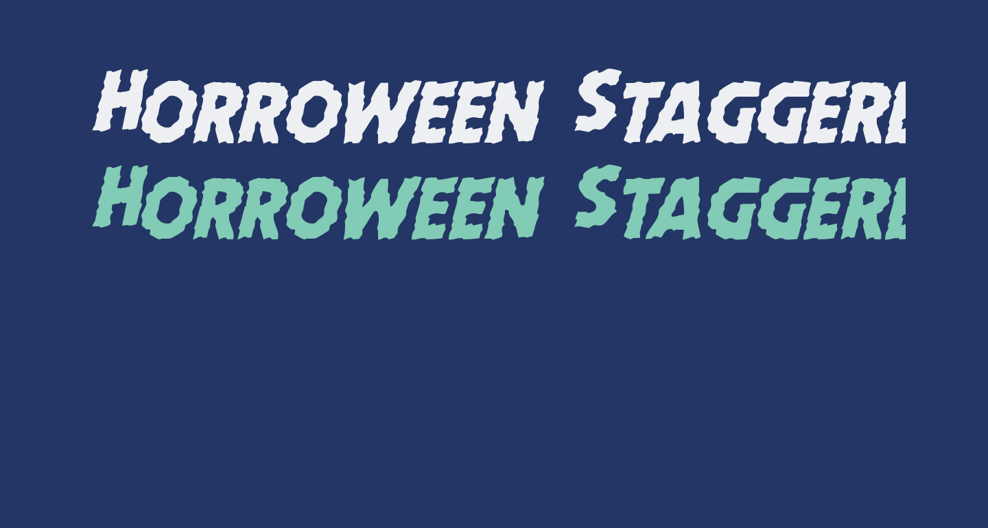 Horroween Staggered Italic