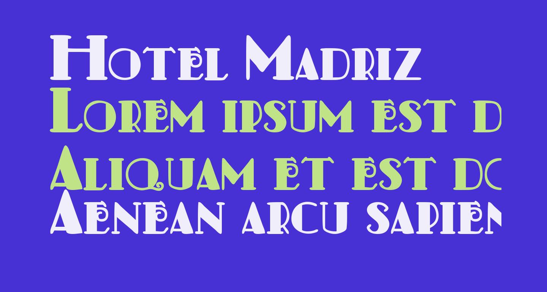 Hotel Madriz