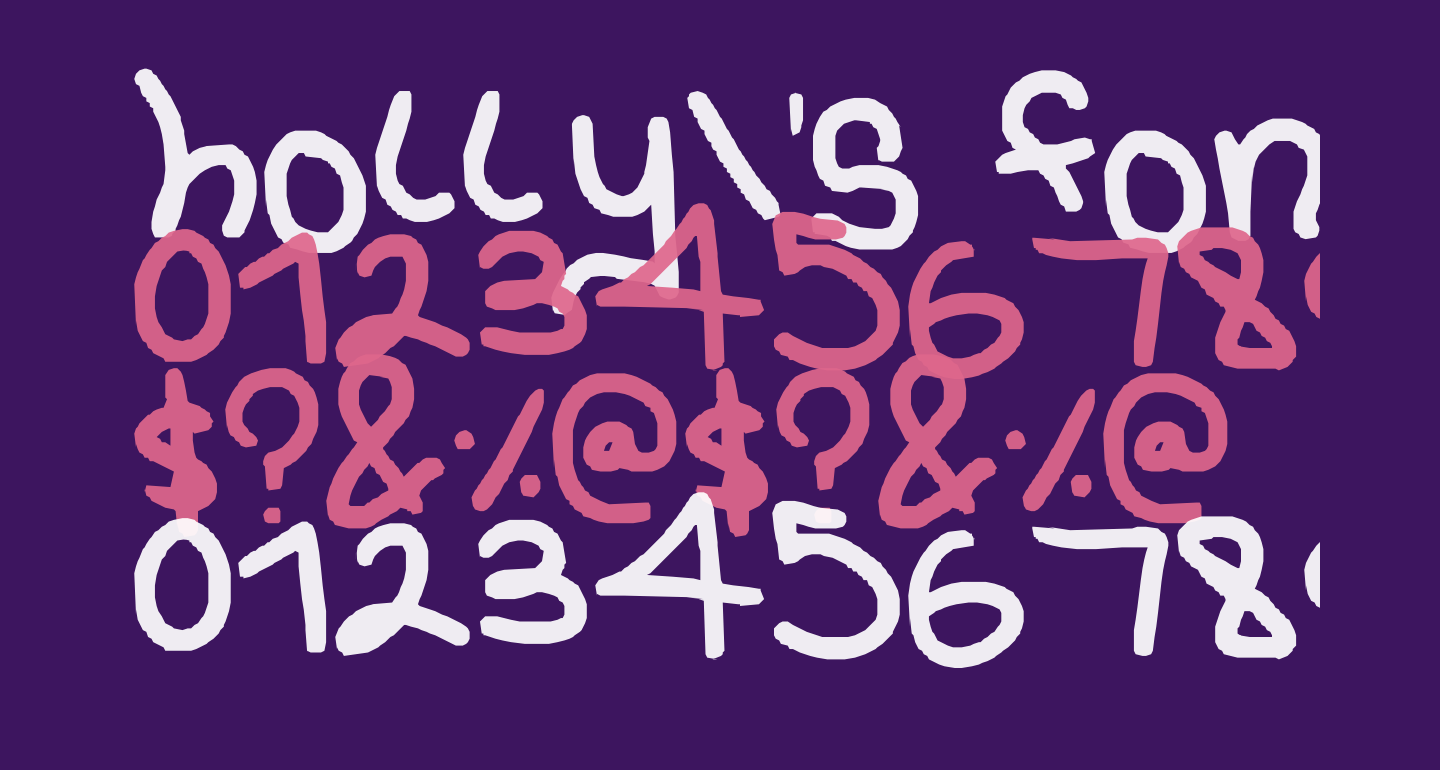 holly's font