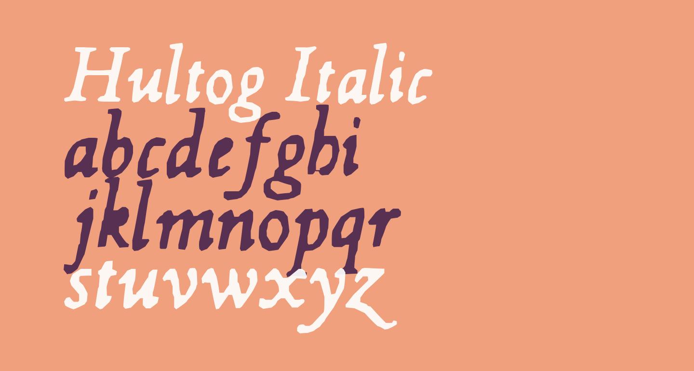 Hultog Italic