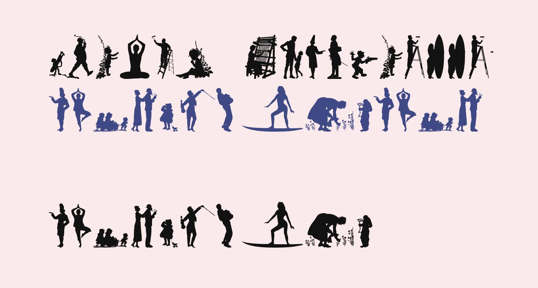 Human Silhouettes Free Nine