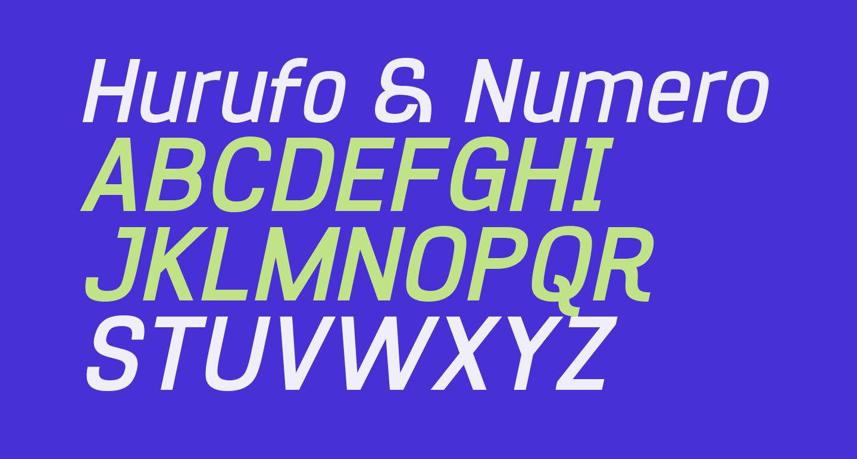 Hurufo & Numero Bold Italic Italic