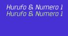 Hurufo & Numero Italic Italic