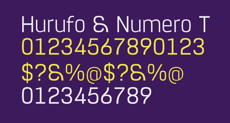 Hurufo & Numero Thin