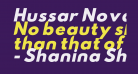 Hussar Nova ExtraBold Italic