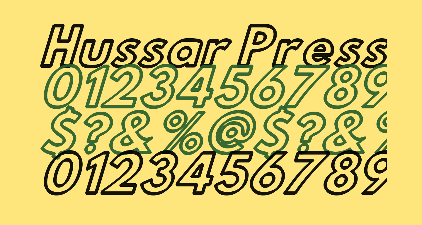 Hussar Press Oblique