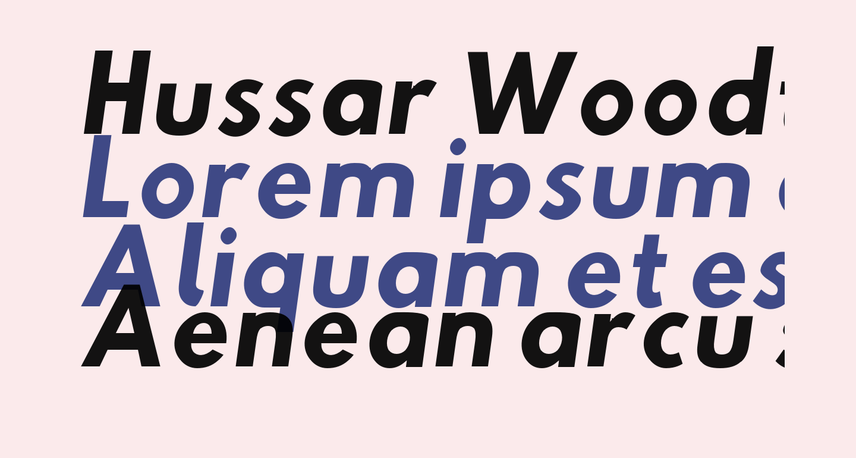 Hussar Woodtype SemiBold Oblique