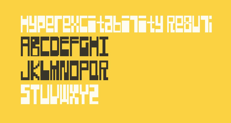Hyperexcitability Regular
