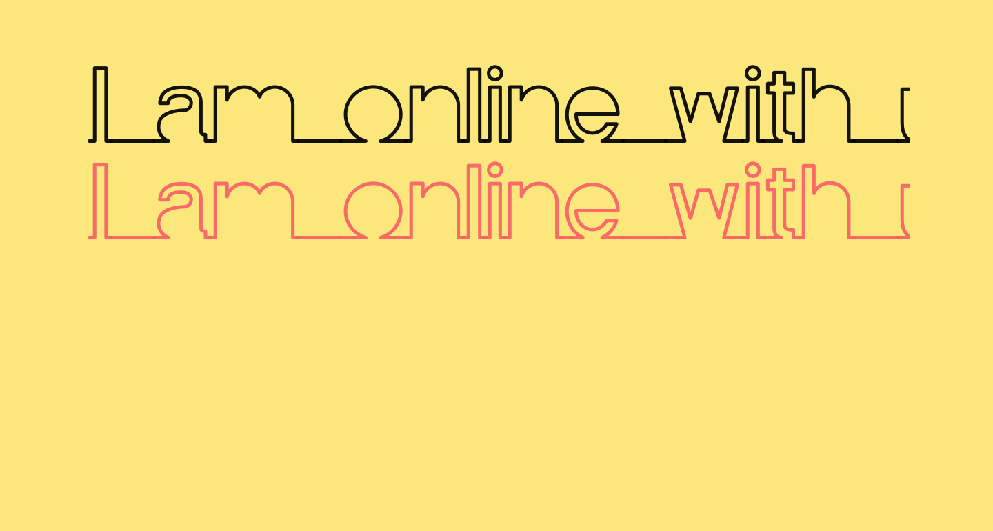 I am online with u Personal Use Only Line