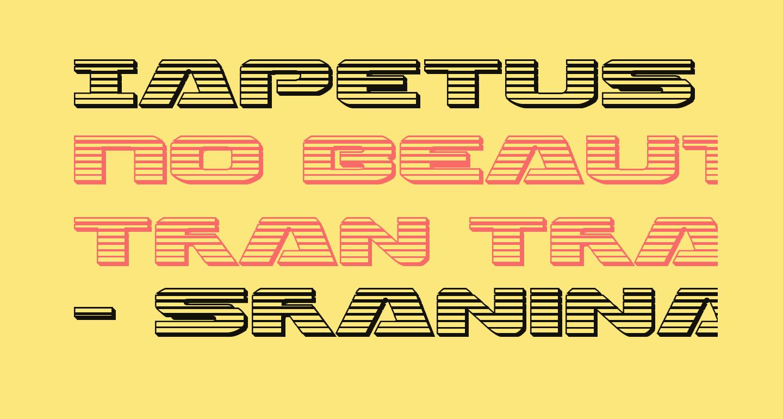 Iapetus Chrome Regular