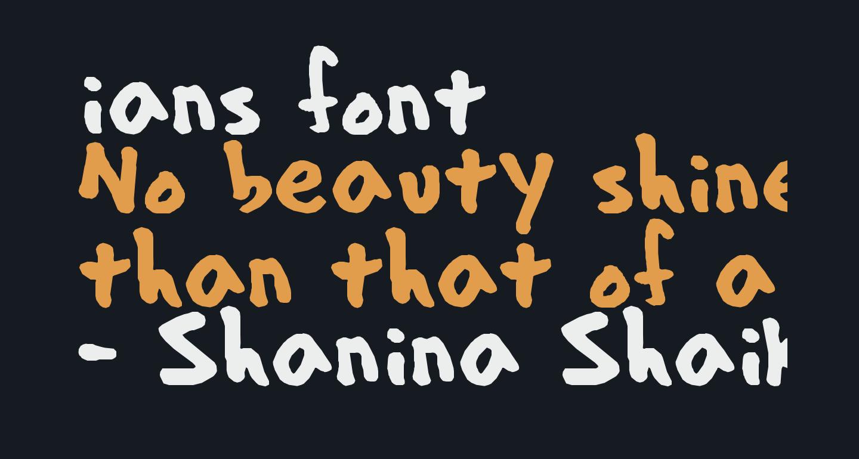ians font
