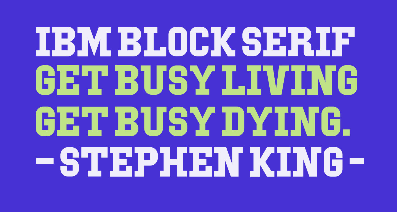 IBM Block Serif