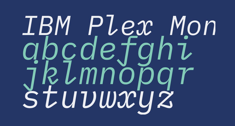 IBM Plex Mono Italic