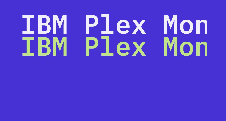 IBM Plex Mono SemiBold