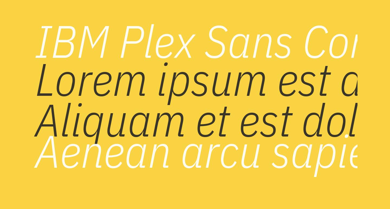 IBM Plex Sans Condensed Light Italic