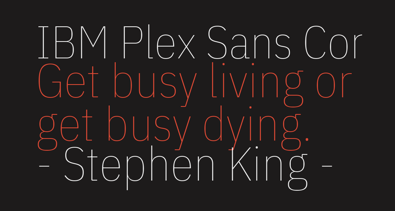 IBM Plex Sans Condensed Thin