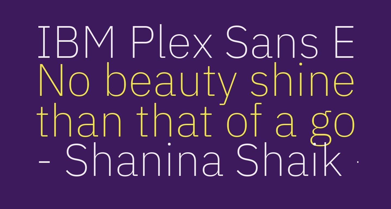 IBM Plex Sans ExtraLight