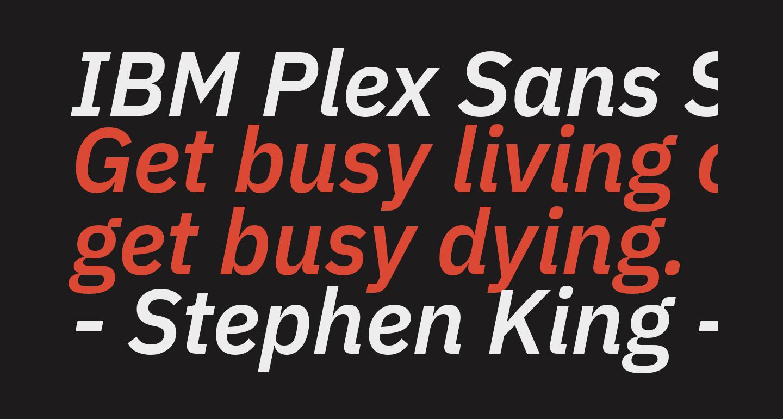 IBM Plex Sans SemiBold Italic
