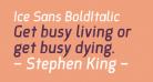 Ice Sans BoldItalic