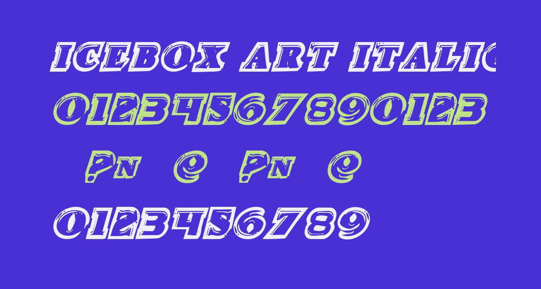 Icebox Art Italic