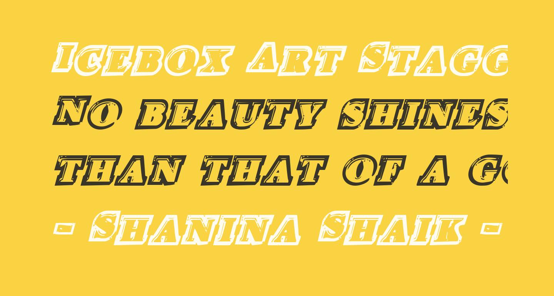 Icebox Art Staggered Italic