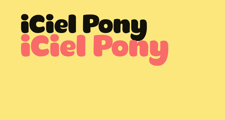 iCiel Pony