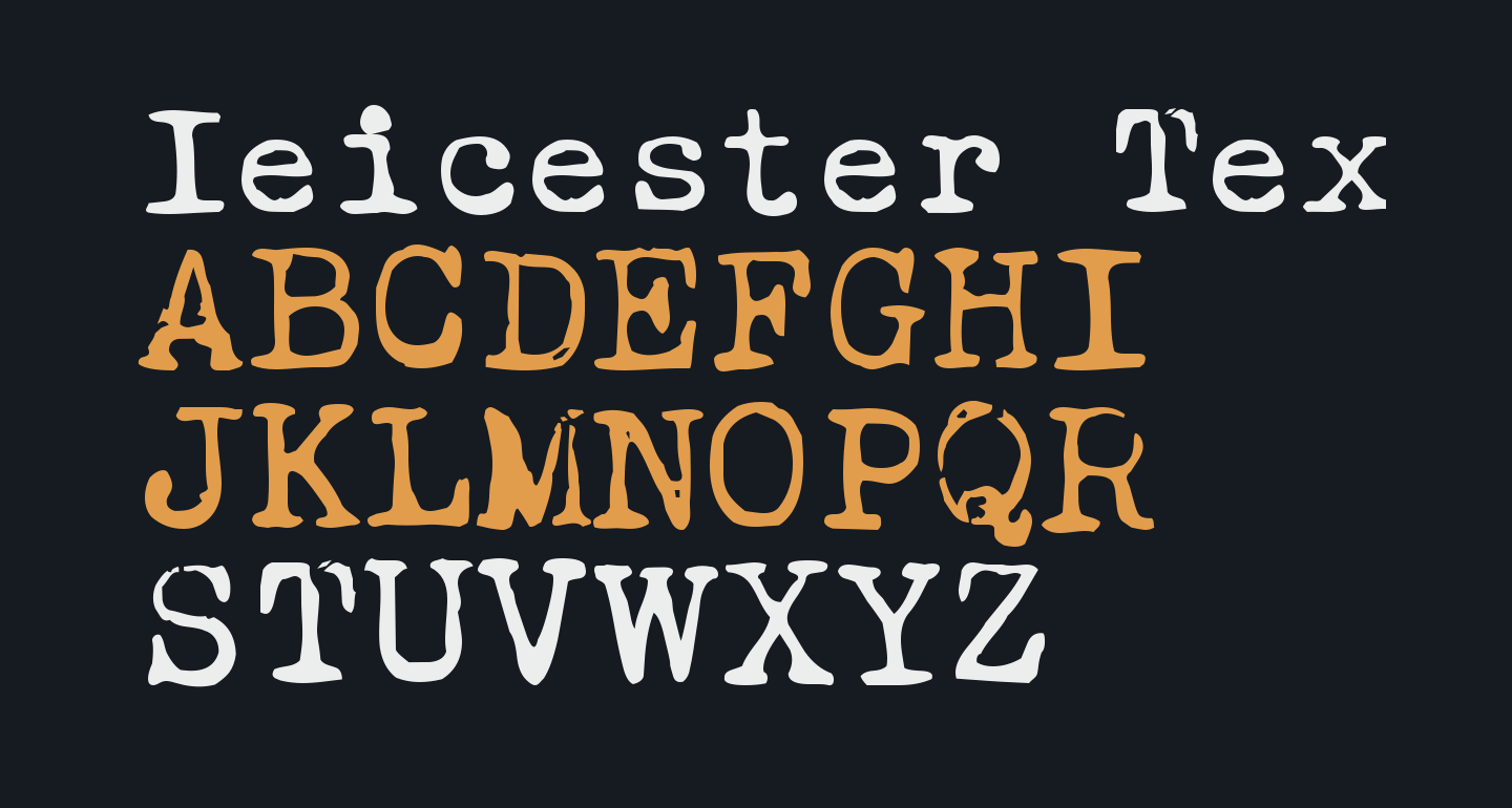 Ieicester Text