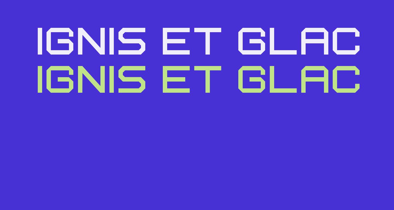 Ignis et Glacies Extra Sharp