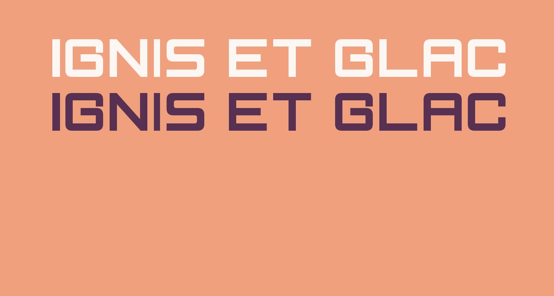 Ignis et Glacies Sharp Bold