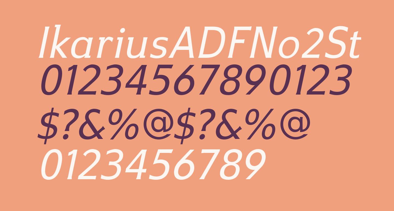 IkariusADFNo2Std-Italic