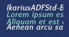 IkariusADFStd-BoldItalic