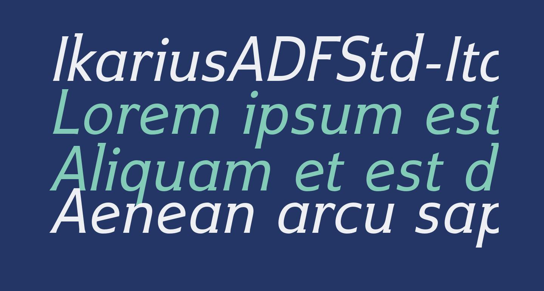 IkariusADFStd-Italic