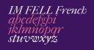 IM FELL French Canon Italic