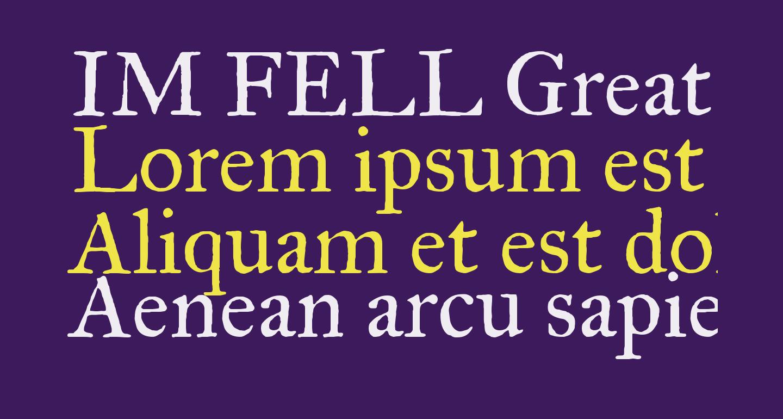 IM FELL Great Primer Roman